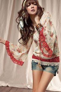 Блузка с элементами этнического стиля