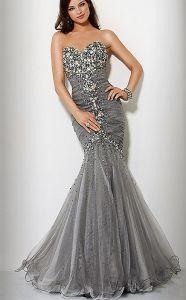 Вечернее платье со стекляриусом